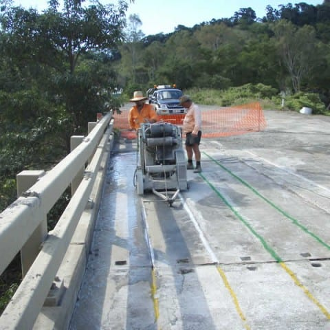 Cutting a bridge for removal